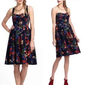 Anthro HD in Paris velvet corduroy dress